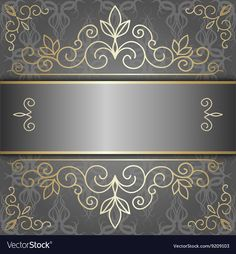 Luxury background with golden patterns vector image on VectorStock Luxury Background, Golden Pattern, Wedding Logos, Paper Frames, Mosaic Art, Abstract Backgrounds, Vector Free, Backdrops, Wallpaper