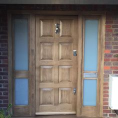 Bespoke Banham Door made in @accoyawood finished in an oak satin. Complete with Banham & 6 Panel Bespoke door http://www.banham.co.uk/doors/ | Bespoke Doors ...