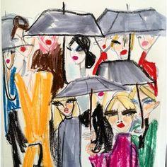 New York Illustrated by Blair Breitenstein Surface Magazine, Black Umbrella, Different Points Of View, Concept Shop, Beauty Illustration, Love Art, Van Gogh, Design Art, Contemporary Art