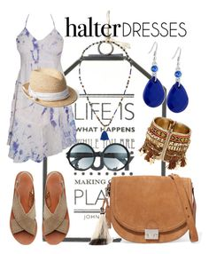 """""""Halter Dresses: White & Blue"""" by tammy-gardner on Polyvore featuring Witchery, Loeffler Randall, Gap, BCBGMAXAZRIA, GUESS, Tom Ford and halterdresses"""
