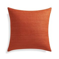 """Moving in Together? 10 Unisex Bedroom Decor Tips to Artfully Merge Your Things   Michael Orange 20"""" Pillow, $44.95; at Crate and Barrel"""