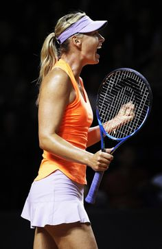 Maria Sharapova Photos Photos - Maria Sharapova of Russia celebrates victory in her match against Erkaterina Makarova of Russia during the Porsche Tennis Grand Prix at Porsche Arena on April 27, 2017 in Stuttgart, Germany. - Porsche Tennis Grand Prix - Day 4
