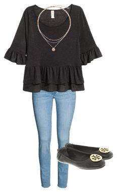 """""""Cutesss"""" by kahleacia-1 on Polyvore featuring H&M, Tory Burch and ToryBurch"""