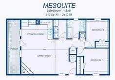 David's Ready Built Homes - 2 Bedroom Floor Plans