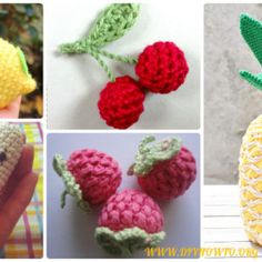 Crochet Amigurumi Fruits Softie Toys Free Patterns & Instructions