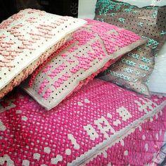 cross stitch pillows