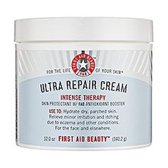 After hearing my boyfriend complain about his eczema, I did some research and got him a jar of this. Now he swears by it. #FirstAidBeauty #UltraRepairCream #Sephora