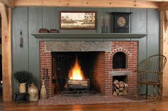 colonial kitchen fireplaces - Google Search