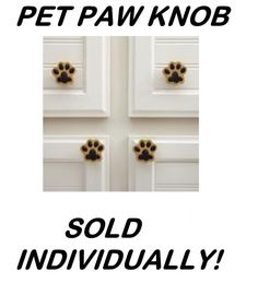 NEW PET PAW PRINT NOVELTY DOOR WARE KITCHEN CABINET KNOB DRAWER PULL KNOBS PULLS #offbrand
