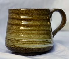 Hi fired stoneware mug, slip decorated by FireonClay on Etsy Stoneware Mugs, Fire, Unique Jewelry, Tableware, Handmade Gifts, Etsy, Vintage, Decor, Kid Craft Gifts