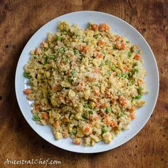 Forget fried rice!  Try this healthy cauliflower rice version instead. I can't believe it's not rice!