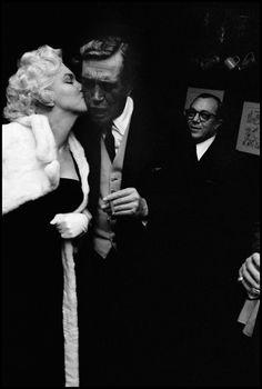 Lovely shot of Marilyn and director John Huston at Club 21, New York. Photograph taken by Burt Glinn on February 26, 1955.