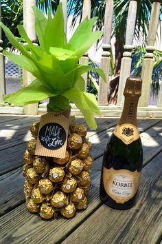 Ferrero Rocher Pineapple Hidden Champagne by ProjectBoothDesigns