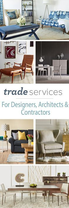 Ready to experience the next level in design service? We invite interior designers, architects, and contractors to enjoy Trade pricing, exclusive product collections, and personalized service from a representative who knows the industry inside and out. Join Trade Services FREE today!