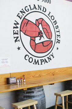 New England Lobster Company | South San Francisco. I like this idea for a little table space in kitchen