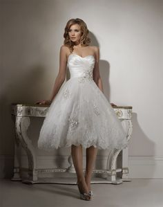 I'm short....like REALLY short! PETITE brides, post your pics! :) :  wedding dress petite short 123133.jpg?t=1312866900