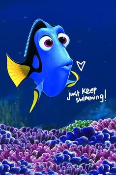 Just Keep Swimming iPhone 4 Wallpaper (640x960)
