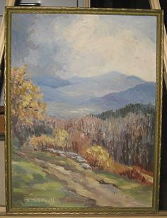 Ruth G Mould RARE Mountains in Vermont Landscape Painting Listed Artist | eBay
