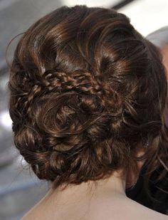 Anna Kendrick braided updo
