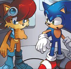 Sonic and princess Sally Acorn