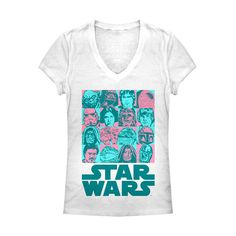 Junior's - Character Checkerboard Star Wars V Neck