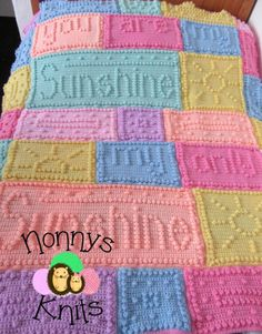 Favorite Crochet Ideas You Are My Sunshine Crochet Blanket Pattern - The You Are My Sunshine Crochet Blanket Pattern has been hugely popular and you will love making it for a favorite space in your place. Get the pattern now. Crochet Afghans, Crochet Puntada Bobble, Bobble Stitch Crochet Blanket, Single Crochet Stitch, Afghan Crochet Patterns, Baby Blanket Crochet, Crochet Blankets, Crochet Stitches, Afghan Blanket