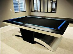 Custom Pool Tables For Sale - When looking at bumper pool tables you wish to look at cost, brand, size, content, and what Diy Pool Table, Pool Tables For Sale, Custom Pool Tables, Billard Design, Bumper Pool, Pool Table Accessories, Modern Bungalow House, Basement Furniture, Video Game Rooms