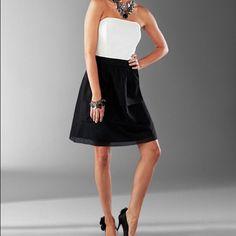 White House Black Market Strapless Silk Dress