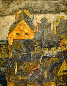 alongtimealone: 1912 Egon Schiele (Austrian, 1890-1918) ~ Old City I, via Baltimore Museum of Art Baltimore MD (by mbell1975)