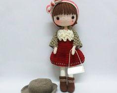 Amigurumi Doll Anime : Amigurumi crochet doll pattern japanese kimono doll anime