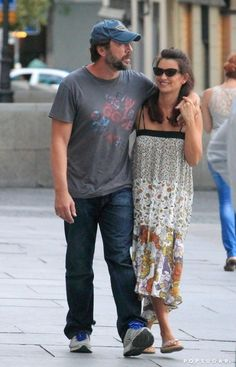 Pin for Later: Penélope Cruz and Javier Bardem Have One Hot Relationship  Penélope and Javier looked happy while walking down the street in Madrid in July 2012.