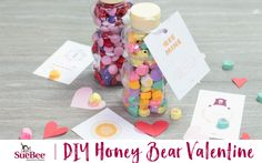 DIY Honey Bear Valentine - the perfect Valentine's Day surprise for your loved one or great for the kids to make for their classmates!
