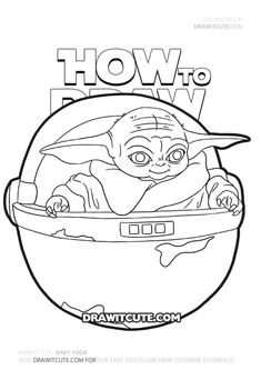 Six free coloring sheets of Baby Yoda scenes from Star