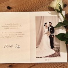 "Veckan börjar spännande med tack kort från prins Carl Philip och Sofias bröllop. Känns stort! / Our week started in a very exciting manner with a ""thank you"" card fom the wedding of prince Carl Philip and Sofia. #prinsbröllop #royalwedding #tackförpresenten #thankyoucard"