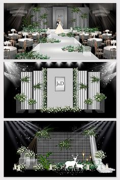 Metal high-end premium gray wedding stage background Wedding Backdrop Design, Wedding Stage Design, Church Stage Design, Wedding Stage Decorations, Backdrop Decorations, Backdrops, Chinese Wedding Decor, Wedding Photo Walls, Stage Background