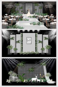 Modern Nordic style marble personalized wedding renderings