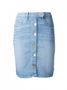Jean skirts are here, and they're ADORABLE // Snap Front Denim Skirt by Frame Denim // #StyleTips