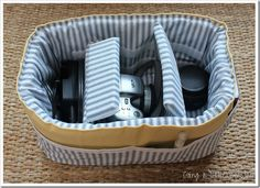 Camera bag insert...swap from purse to tote, etc. ...nice How-To @colleen3495