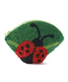 Look what I found on #zulily! Red Hand-Beaded Ladybug Coin Purse #zulilyfinds