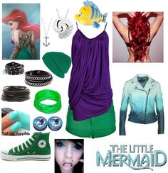 """Punk Rock Ariel Outfit"" by casey-carpenter on Polyvore"