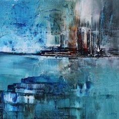 umj.art - Ulla Maria Johanson: 2018-02-24 #1202 Outset Acrylic on board, 15x15 cm...
