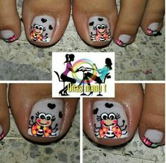 Pedicure, Work Nails, Little Girl Nails, Best Nails, Polish Nails, Feet Nails, Nail Decorations, Pedicures, Toe Polish