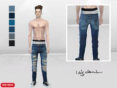 McLayneSims' Hyped Distressed DenimJeans