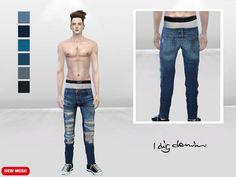 McLayneSims' Hyped Distressed DenimJeans