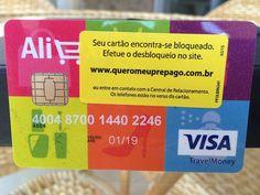 Cartão pré-pago Visa and Aliexpress