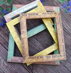 Allred Design is all about designing life in all aspects. Best Picture For Frame Crafts jew Ruler Crafts, Frame Crafts, Diy Frame, Craft Stick Crafts, Wood Crafts, Diy And Crafts, Repurposed Items, Upcycled Crafts, Wood Projects