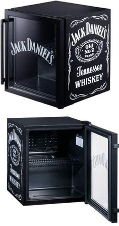 Jack Daniel's: Mini fridge. Ive got to get one of these for my room.