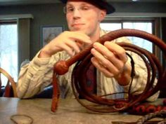This is more a video on the characteristics that can make a bullwhip crack easily. I mainly used the term 'LOUD' in the title to help get this video some att. Paracord Projects, Diy Projects, Diy Leather Working, Ringmaster Costume, Bull Whip, Paracord Tutorial, Toy Puppies, Leather Projects, Custom Leather