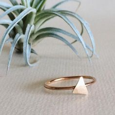 dainty triangle rings, sterling silver ring, 14k gold filled ring, stacking rings, dainty jewelry, handmade jewelry, geometric jewelry, gifts for her, hammered