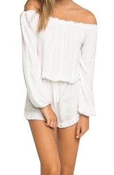 8d3c9b21623b Honey GD Womens Jumpsuits Dress Casual Elegant Jumpsuit Romper White L    Details can be found